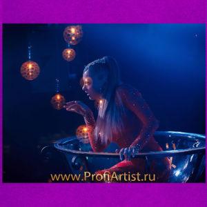 Шоу Девушка в бокале GOLDEN GLASS на свадьбу, юбилей, корпоратив и Новый год
